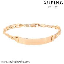 74626 xuping nouveau mode 18 carats plaqué or bracelet femme
