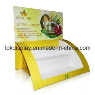 Display de ponto de vendas de cartão, prateleira de exibição de bancada cosmética