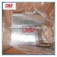 Containertyp und Backen Verwendung Glatte Wand Aluminiumfolie Container