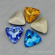 Forme de triangle Ab Couleur Crystal Point Retour Fancy Stone