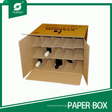 Cajas de envío de vino de alta calidad con divisores