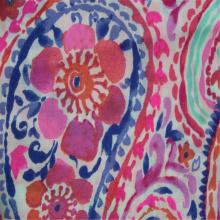 Flor de caju impressa com pano liso de algodão