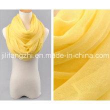 100 % spun Polyester haute torsion Voile tissu grège pour écharpe