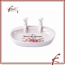 Керамическая уникальная ванна мыльница формы мыльница с деколь украсить