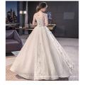 2017 Luxo de alta qualidade Off-ombro flor Appliqued vestido de noiva vestido de noiva vestido de noiva vestido de noiva