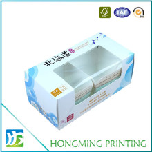 Offset Printing PVC Window White Cardboard Food Box