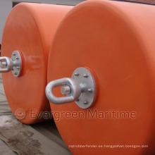 Boya cilíndrica, boya de soporte, boyas de recogida, boyas de flotabilidad de espuma EVA con piel de PU