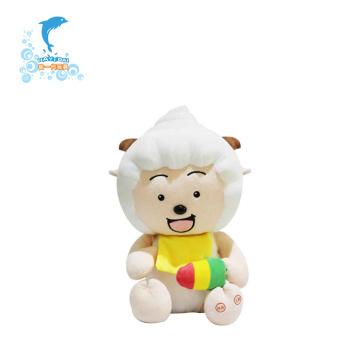 Пользовательские плюшевые игрушки Lazy Goat могут плакать от смеха