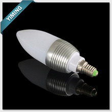 3W Dimmable Milk White LED Candle Light