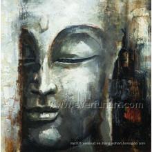 Óleo sobre lienzo Decoración hecha a mano de pared de Buda (BU-022)