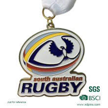 Angepasste Bronze Stamping Soft Emaille Rugby Wettbewerb Award Medaillen