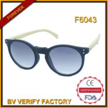 F6043 Billige handgefertigt und modische Kunststoffrahmen Bambus Tempel Sonnenbrillen