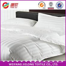 tela blanca de algodón con rayas de raso para uso hotelero Tela textil con rayas de raso casero y ropa de cama de hotel 100% algodón