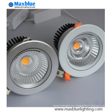 6-35W inclinable y mueble de plata COB LED techo Downlight