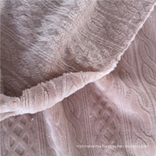 Polyester Solid Flannel Textile Fabric
