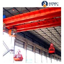 Qz Coal Cinder Double Girder Grab Overhead Crane