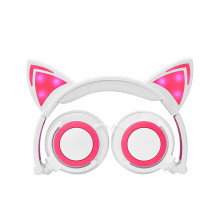 New Arrival Cat Ear headphone With LED Light