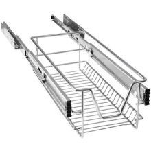 Chrome Galvanised Telescopic Basket Pull Out Storage Drawer