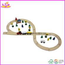 Jouet en bois de voie de train de 48PCS, fait de bois de pin (W04C005)