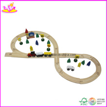 48PCS Wooden Train Track Toy, Made of Pine Wood (W04C005)