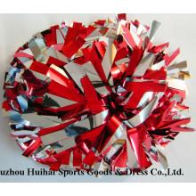 2016 Metallic Red&Silver POM Poms