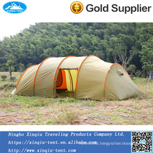 New design 190T Polyester1500mm big size family 8 person tunnel tent