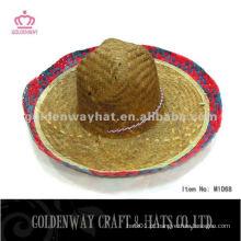 Padrão de chapéu de sombrero de palha liso