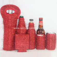 Beer bottle cover sleeves set for wedding gifts