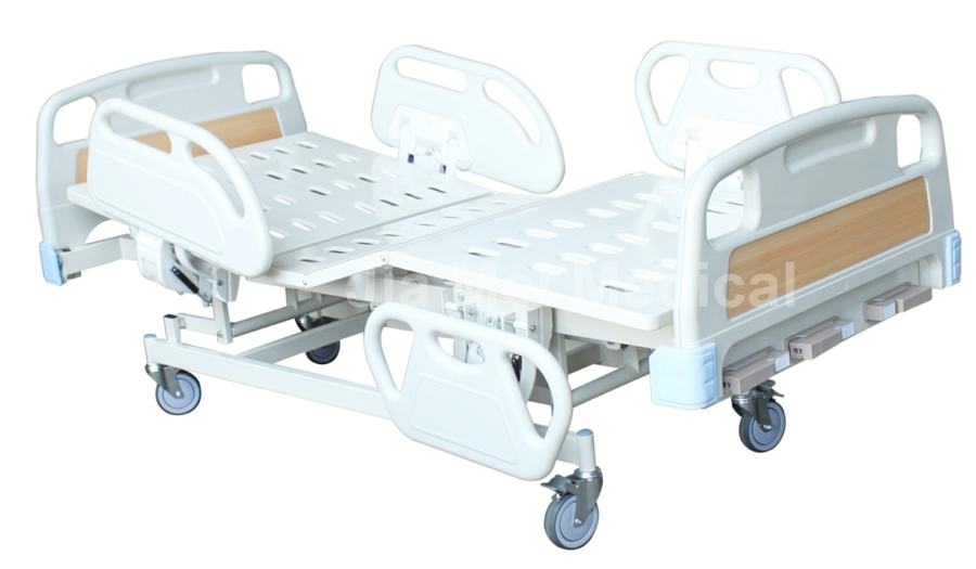 medical bed with three cranks