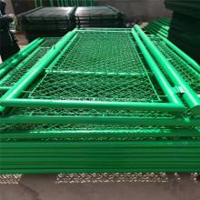 Cerca de malha de elo de corrente de PVC verde