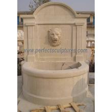 Pedra carving fonte de parede para o jardim de fonte de água esculpida (sy-w059)