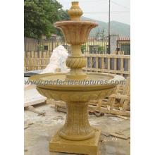 Fonte de água do estágio para a cinzeladura de pedra do jardim (SY-F206)