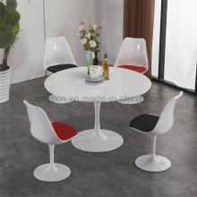 Uptop мода Белый металл нога Тюльпан стол стул (СП-CT662)