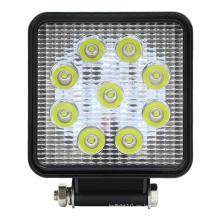 Coche de luz de trabajo con foco LED cuadrado brillante de 27W