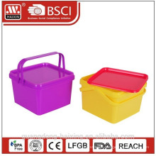 promotional plastic food container with printing as gift