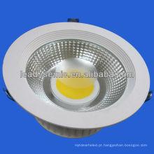 15W, 30w dissipação de calor de alumínio cob levou downlight dimmable
