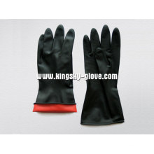 Doppelter industrieller Latex-Handschuh-5604