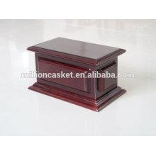 custom solid mahogany urn rectangle