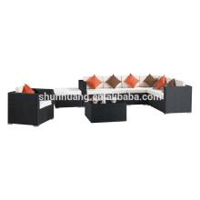 outdoor new design poly rattan furniture garden wicker sofa