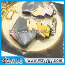 Etiqueta engomada del gancho decorativo novedad del PVC para la exhibición de pared