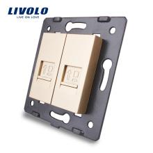 Livolo Аксессуар для настенной розетки База компьютерного интернет-разъема RJ45 / Outlet VL-C7-2C-13