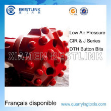 Low Air Pressure J Series DTH Button Bits for Quarrying