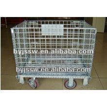 Chariot pliable de cage de fil
