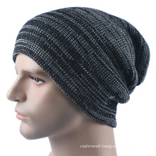 Mens Soft Stretch Winter Knitted Double Layer Warm Cap Beanie Hat (HW423)