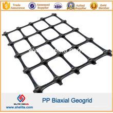 Geogrelha Biaxial PP com Abertura Dimensões 65mmx65mm