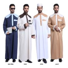Hot selling islamic clothing dubai abaya polyester blend muslim men abaya