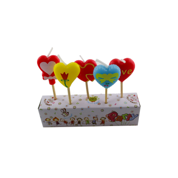Selamat Ulang Tahun Lilin Love Heart Design Party Decor