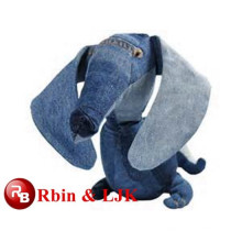 Kundengebundener Soem-Entwurf! Blauer Plüschhund, Hundplüschspielzeugtier, bestes Spielwaren angefülltes Tier
