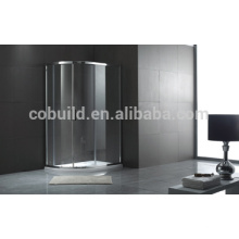 K-555 Popular big roller sector sliding shower room with frame shelf mini shower enclosure