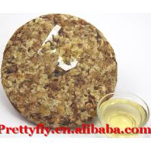 Haut de gamme Yunnan fermenté 200g Pu'er Flower Tea en vente, Natural Compressed Puerh Tea Export